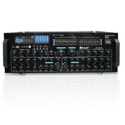 Technical Pro Professional Mic Mixing Amplifier with USB/SD Card Inputs and Bluetooth Compatibility, 5 V (mm3000)