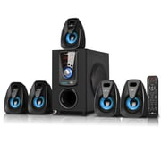 BeFree Sound Bluetooth Speaker System, bfs-400, 25 W & 10 W x 5, Blue