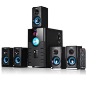 BeFree Sound Bluetooth Speaker System, bfs-500, 50 W & 15 W x 5, Blue