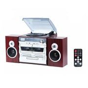 Techplay TechPlay 3-Speed Turntable Double Cassette Player/Recorder (odc110-wd)