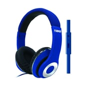 Naxa ne-943-blue Over-Ear Headphones with Mic, Blue