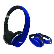 Naxa ne-941-blue On-Ear Headphones with Mic, Blue