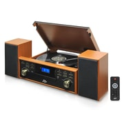 PyleHome Retro Vintage Classic Style Bluetooth Turntable Speaker System, 110 - 220 V (pptcm80btbr)