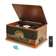 Pyle Vintage Retro Classic Style Bluetooth Turntable System, 110/220 V (ptcd56ubwd)