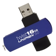 Unirex 16GB 105 Mbps Read/45 Mbps Write USB 3.0 Flash Drive, Blue (usft-316s)