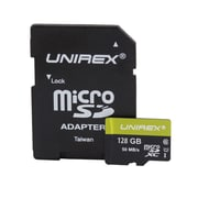 Unirex ums-128s Memory Card, Class 10 (UHS-1), 128GB, microSDHC