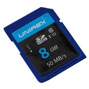 Unirex uss-085s Memory Card, Class 10 (UHS-1), 8GB, SDHC