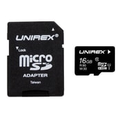 Unirex umf-165m UMS Memory Card, Class 10 (UHS-1), 16GB, microSDHC
