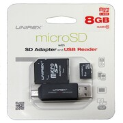 Unirex msw-085s Memory Card, Class 10, 8GB, microSD