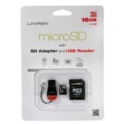 Unirex msu-165s Memory Card, Class 10, 16GB, microSDHC