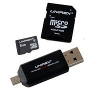 Unirex msw-082s Memory Card, Class 4, 8GB, microSD