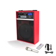 Pyle P WMAB250RD PA Speaker System, 300 W, Bluetooth, Red