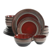 "Gibson 11"" x 8.25"" x 6"" x 4.33"" Dinner Plates, Red 92744.16"