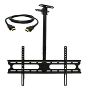 MegaMounts Tilt and Swivel Ceiling TV Mount with HDMI Cable, 100 lbs. (cmc146-hdmi-bndl)