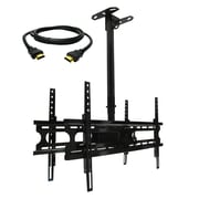 MegaMounts Tilt and Swivel Ceiling TV Mount with HDMI Cable, 100 lbs. (cmc246-hdmi-bndl)