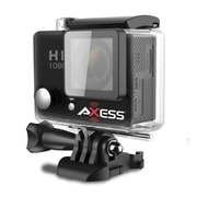 Axess CS3604-BK 12 MP Action Camera, 2.65 mm, Black