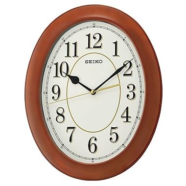 Seiko QXA664B Wooden Wall Clock, Oval