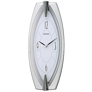 Seiko QXA342S Wall Clock, Silver