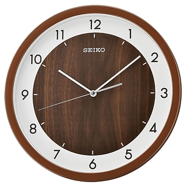 Seiko QXA654B Wall Clock, Brown