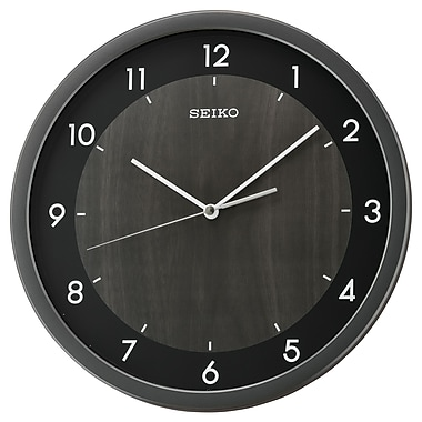 Seiko QXA654K Wall Clock, Dark Brown