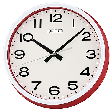 Seiko QXA645R Wall Clock, Red