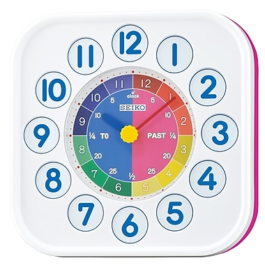 Seiko QHA004P Magnetic Clock, Pink