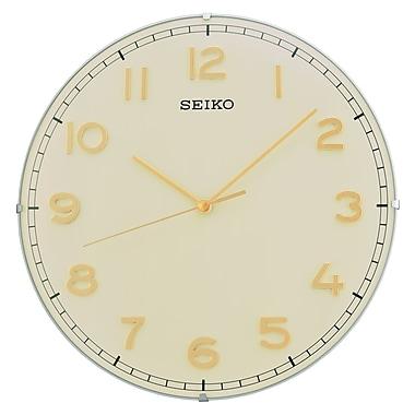 Seiko QXA624C Wall Clock, Yellow