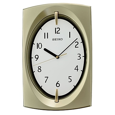 Seiko QXA519G Tonneau Wall Clock, Yellow
