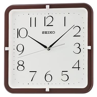 Seiko QXA653B Square Wall Clock, Brown