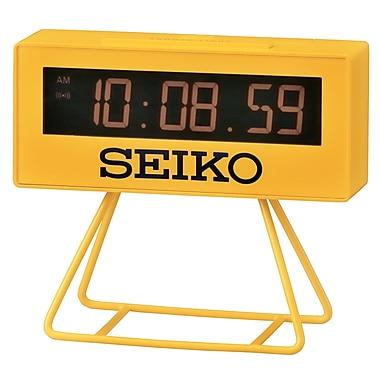 Seiko QHL062Y Digital Alarm Clock, Yellow