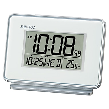 Seiko QHL068W Digital Alarm Clock, White