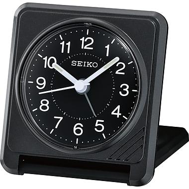 Seiko QHT015K Travel Alarm Clock, Black