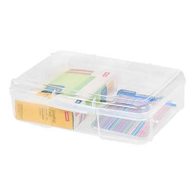 Staples® Clear Plastic Snap Case, Small (150736)