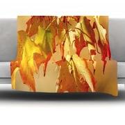 KESS InHouse Autumn Leaves by Angie Turner Fleece Throw Blanket; 80'' x 60''