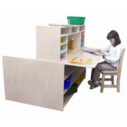 Wood Designs Read-N-Write Station Manufactured Wood 40'' Multi-Student Desk