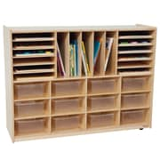 Wood Designs 29 Compartment Cubby; Clear Tray