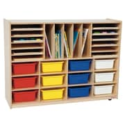 Wood Designs 29 Compartment Cubby; Assorted Tray