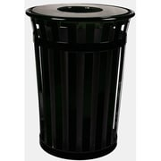 Witt Oakley 50-Gal Slatted Metal Waste Receptacle with Flat Top; Silvadillo