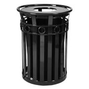 Witt Oakley 36-Gal Series SMB Round Ring Receptacle w/ Flat Top Lid; Black