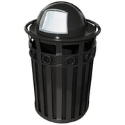 Witt Oakley 36-Gal Stadium Series SMB Round Ring Receptacle w/ Dome Top Lid; Black