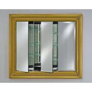 Afina Vanderbilt 42'' x 34'' Recessed Medicine Cabinet; Decor Antique Gold