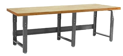 Bench Pro Roosevelt Height Adjustable Solid Maple Top Workbench; 36'' H x 96'' W x 24'' D