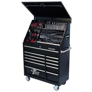 Extreme Tools 41.5'' Wide 11 Drawer Portable Workstation and Roller Cabinet Combination; Black