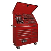 Extreme Tools 41.5'' Wide 11 Drawer Portable Workstation and Roller Cabinet Combination; Red