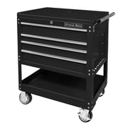 Extreme Tools Deluxe 32.25'' Wide 4 Drawer Service Cart; Black