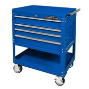 Extreme Tools Deluxe 32.25'' Wide 4 Drawer Service Cart; Blue