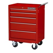 Extreme Tools 27'' Wide 5 Drawer Bottom Cabinet; Red