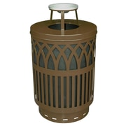 Witt Covington 40-Gal Decorative Trash Receptacle with Ash Top Lid; Brown
