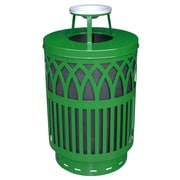 Witt Covington 40-Gal Decorative Trash Receptacle with Ash Top Lid; Green