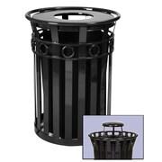 Witt Oakley 36-Gal Trash Receptacle with Rain Cap; Silvadillo